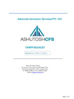 Ashutosh Container Services Pvt. Ltd.