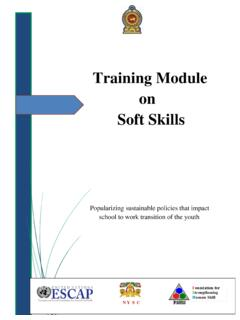 Training Module on Soft Skills - unescapsdd.org