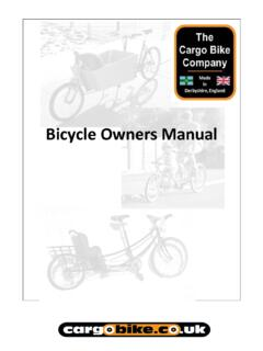 About this Owner's Manual - cargobike.co.uk