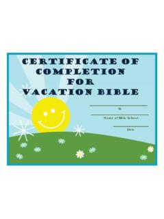 Certificate of VBS Completion - …