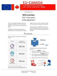 CETA overview: the 7 main parts of the agreement