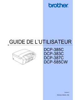 GUIDE DE L'UTILISATEUR - download.brother.com