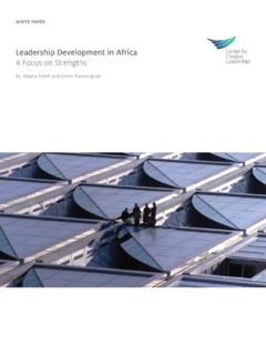Leadership Development in Africa A Focus on …