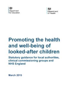 Promoting the health and well-being of looked-after children
