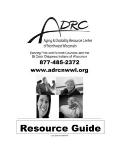 Resource Guide - ADRC of Northwest Wisconsin