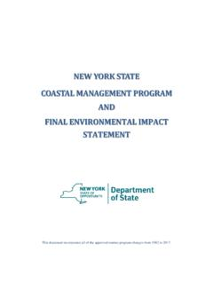 NEW YORK STATE COASTAL MANAGEMENT PROGRAM AND …