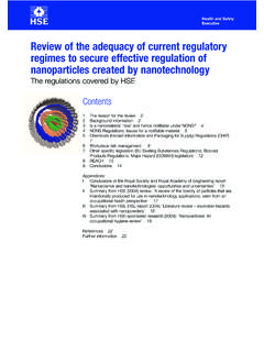 Review of the adequacy of current regulatory …