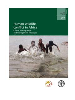Human-wildlife conflict in Africa - fao.org
