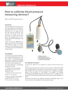 How to calibrate blood pressure measuring devices?