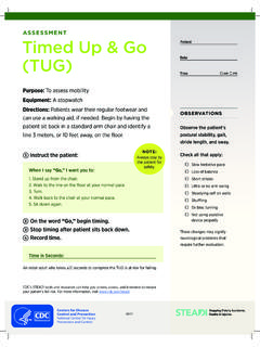 ASSESSMENT Timed Up & Go (TUG)