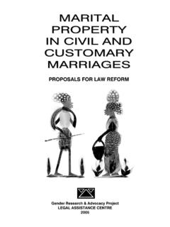 MARITAL PROPERTY IN CIVIL AND CUSTOMARY MARRIAGES