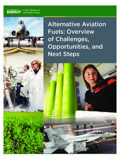 Alternative Aviation Fuels: Overview of Challenges ...