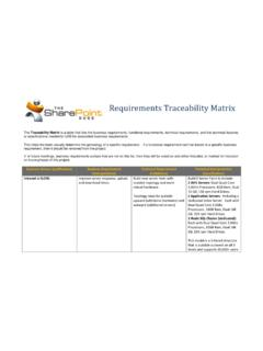 Requirements Traceability Matrix - The SharePoint Dude