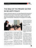 The Role of the Private Sector in Security Policy