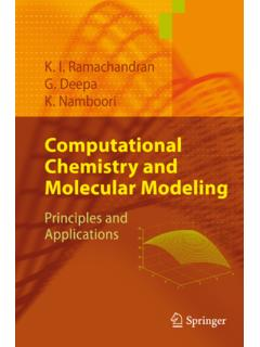 Computational Chemistry and Molecular Modeling ...