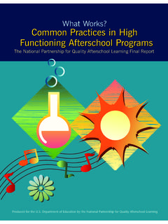 What Works: Common Practices in High …