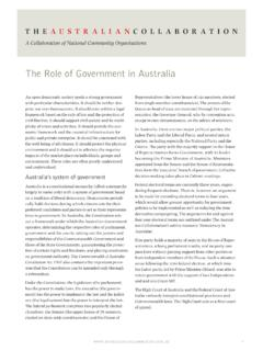 The Role of Government in Australia - Australian …