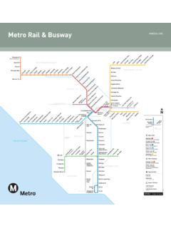 October 2016 - Rail Map - Metro Rail & Busway