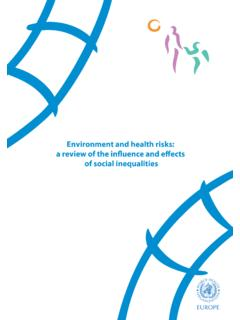 Environment and health risks: of social inequalities