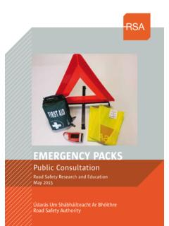 EMERGENCY PACKS - RSA.ie - Home