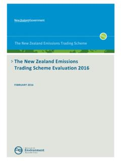 The New Zealand Emissions Trading Scheme …