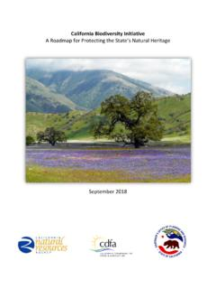 California Biodiversity Initiative A Roadmap for ...