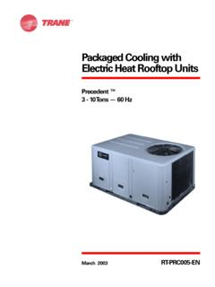 Packaged Cooling with Electric Heat Rooftop Units