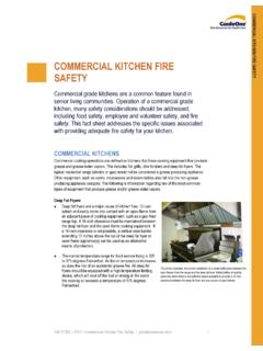 COMMERCIAL KITCHEN FIRE SAFETY - goriskresources.com