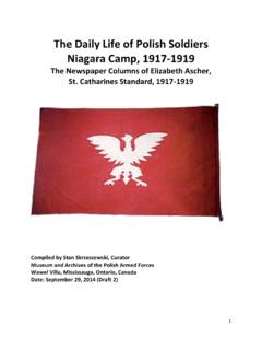 The Daily Life of Polish Soldiers Niagara Camp, 1917-1919