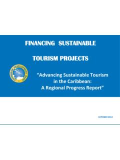FINANCING SUSTAINABLE TOURISM PROJECTS - onecaribbean.org