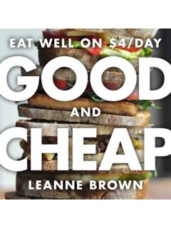 EAT WELL ON $4/DAY GOOD - Leanne Brown