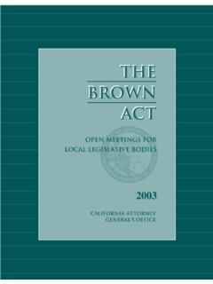 THETHE BROWNBROWN ACTT - State of California