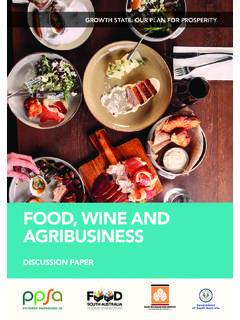 FOOD, WINE AND AGRIBUSINESS
