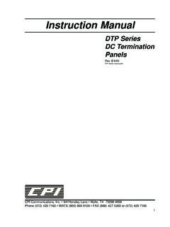 DTP Series manual - cpicomm.com