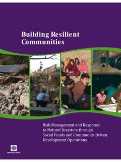 Building Resilient Communities - World Bank