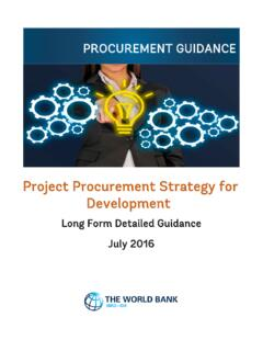 Project Procurement Strategy for Development - World Bank