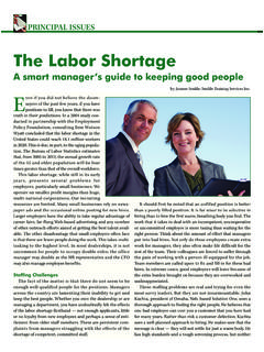 The Labor Shortage - Smiklespeaks