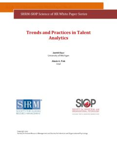 Trends and Practices in Talent Analytics - Welcome …