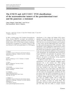 The ENETS and AJCC/UICC TNM classifications of …