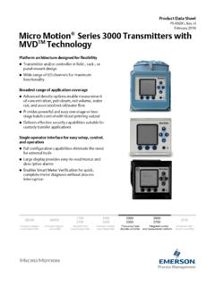 Series 3000 transmitters with MVD™ Technology