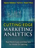 Cutting Edge Marketing Analytics: Real World Cases and ...