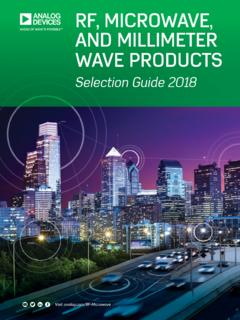 RF, Microwave, and Millimeter Wave Products Selection …