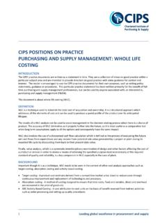 CIPS POSITIONS ON PRACTICE PURCHASING AND SUPPLY ...
