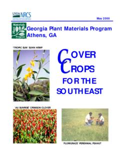 Cover Crops for the Southeast - nrcs.usda.gov