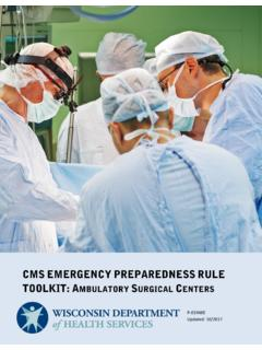 CMS Preparedness Rule Toolkit: Ambulatory Surgical Centers