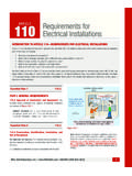 110 RC Requirements for Electrical Installations