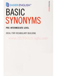 Easier English Basic Synonyms - ielts-house.net