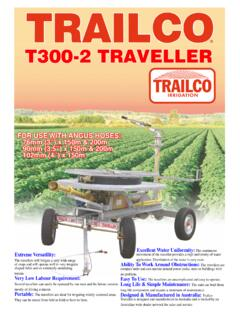 T300-2 TRAVELLER - Trailco Irrigation