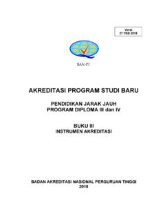 AKREDITASI PROGRAM STUDI BARU - …