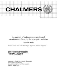 An analysis of maintenance strategies and …